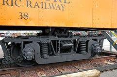 Αυτοκίνητο τραίνων από τον ηλεκτρικό σιδηρόδρομο Lakeshore Στοκ φωτογραφία με δικαίωμα ελεύθερης χρήσης