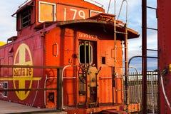 Αυτοκίνητο τραίνων σιδηροδρόμου Σάντα Φε Στοκ Φωτογραφία