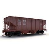 Αυτοκίνητο χοανών σιδηροδρόμων στο άσπρο υπόβαθρο ελεύθερη απεικόνιση δικαιώματος