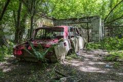 Αυτοκίνητο Abandoneds σε Zalissia, Ουκρανία Στοκ φωτογραφίες με δικαίωμα ελεύθερης χρήσης
