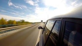 αυτοκίνητο copyspace που οδηγεί τη μέσα παρεχόμενη όψη Χρονικό σφάλμα απόθεμα βίντεο