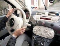 αυτοκίνητο copyspace που οδηγεί τη μέσα παρεχόμενη όψη Στοκ εικόνες με δικαίωμα ελεύθερης χρήσης
