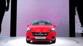 Αυτοκίνητο Corsa Hatchback Opel απόθεμα βίντεο