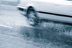 Αυτοκίνητο downpour στοκ εικόνες