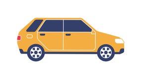 Αυτοκίνητο Hatchback επίπεδο ελεύθερη απεικόνιση δικαιώματος