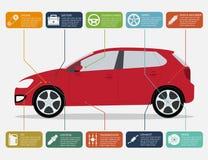 Αυτοκίνητο infographic Στοκ Φωτογραφίες
