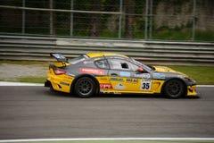 Αυτοκίνητο MC Trofeo Maserati GT4 που συναγωνίζεται σε Monza Στοκ Εικόνες