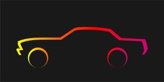 αυτοκίνητο silhouete Στοκ φωτογραφία με δικαίωμα ελεύθερης χρήσης