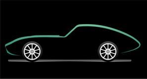 αυτοκίνητο silhouete Στοκ Φωτογραφία