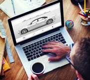 Αυτοκινητική έννοια κομψότητας οχημάτων μεταφορών αυτοκινήτων Στοκ Εικόνα