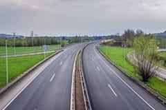 Αυτοκινητόδρομος στη Δημοκρατία της Τσεχίας στοκ εικόνες