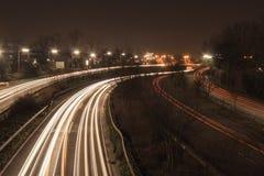 Αυτοκινητόδρομος τη νύχτα στοκ φωτογραφία με δικαίωμα ελεύθερης χρήσης