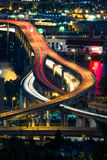 Αυτοκινητόδρομος του Πόρτλαντ τη νύχτα Στοκ φωτογραφία με δικαίωμα ελεύθερης χρήσης