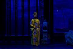 Αυτοκράτορας Daming η zhengde-τρίτη πράξη: η νύχτα του βουνό-μεγάλου ιστορικού δράματος απότομων βράχων, ` Yangming τρεις νύχτες  Στοκ Φωτογραφίες