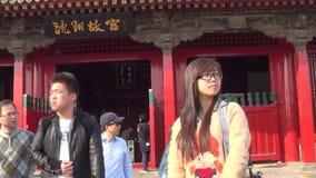 Αυτοκρατορική οδός παλατιών Shenyang απόθεμα βίντεο
