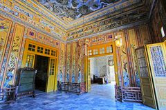 Αυτοκρατορικός τάφος Khai Dinh, περιοχή παγκόσμιων κληρονομιών της ΟΥΝΕΣΚΟ του Βιετνάμ χρώματος Στοκ Εικόνες