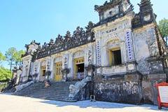 Αυτοκρατορικός τάφος Khai Dinh, περιοχή παγκόσμιων κληρονομιών της ΟΥΝΕΣΚΟ του Βιετνάμ χρώματος Στοκ εικόνα με δικαίωμα ελεύθερης χρήσης