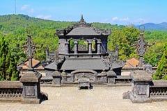 Αυτοκρατορικός τάφος Khai Dinh, περιοχή παγκόσμιων κληρονομιών της ΟΥΝΕΣΚΟ του Βιετνάμ χρώματος Στοκ Φωτογραφία