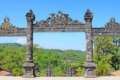Αυτοκρατορικός τάφος Khai Dinh, περιοχή παγκόσμιων κληρονομιών της ΟΥΝΕΣΚΟ του Βιετνάμ χρώματος Στοκ εικόνες με δικαίωμα ελεύθερης χρήσης