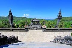 Αυτοκρατορικός τάφος Khai Dinh, περιοχή παγκόσμιων κληρονομιών της ΟΥΝΕΣΚΟ του Βιετνάμ χρώματος Στοκ φωτογραφίες με δικαίωμα ελεύθερης χρήσης