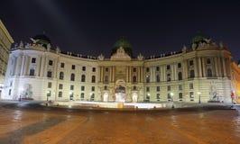 Αυτοκρατορικό παλάτι τη νύχτα - Βιέννη Στοκ εικόνες με δικαίωμα ελεύθερης χρήσης