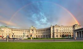 Αυτοκρατορικό παλάτι της Βιέννης Hofburg στην ημέρα, - Αυστρία Στοκ Εικόνες