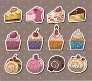 Αυτοκόλλητες ετικέττες κέικ Στοκ εικόνες με δικαίωμα ελεύθερης χρήσης