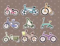 Αυτοκόλλητες ετικέττες ποδηλάτων κινούμενων σχεδίων Στοκ Φωτογραφίες