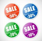 αυτοκόλλητες ετικέττες πώλησης διατρήσεων απεικόνιση αποθεμάτων