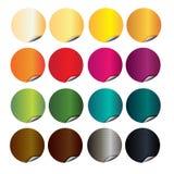 Αυτοκόλλητες ετικέττες σε 12 διαφορετικά χρώματα για το βιβλίο διανυσματική απεικόνιση