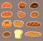 αυτοκόλλητες ετικέττες ψωμιού διανυσματική απεικόνιση
