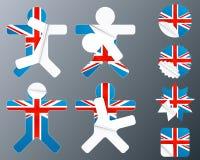 αυτοκόλλητες ετικέττες UK αποφλοίωσης συλλογής Στοκ Εικόνες