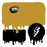 αυτοκόλλητες ετικέττε& Στοκ εικόνα με δικαίωμα ελεύθερης χρήσης