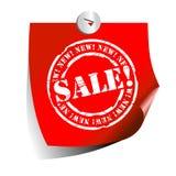 αυτοκόλλητη ετικέττα πώλ& Στοκ φωτογραφία με δικαίωμα ελεύθερης χρήσης