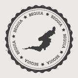 Αυτοκόλλητη ετικέττα του Bequia απεικόνιση αποθεμάτων