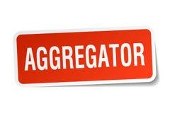 αυτοκόλλητη ετικέττα aggregator Διανυσματική απεικόνιση