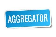 αυτοκόλλητη ετικέττα aggregator Απεικόνιση αποθεμάτων