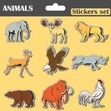 Αυτοκόλλητες ετικέττες ζώων καθορισμένες Στοκ εικόνες με δικαίωμα ελεύθερης χρήσης