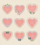Αυτοκόλλητες ετικέττες καρδιών Στοκ Εικόνα
