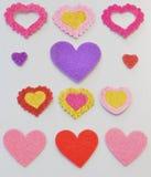 Αυτοκόλλητες ετικέττες με μορφή της καρδιάς Στοκ φωτογραφία με δικαίωμα ελεύθερης χρήσης