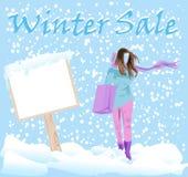 Αυτοκόλλητες ετικέττες πώλησης χειμερινής μόδας Στοκ Φωτογραφίες