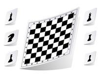 Αυτοκόλλητες ετικέττες σκακιερών καθορισμένες Στοκ φωτογραφία με δικαίωμα ελεύθερης χρήσης