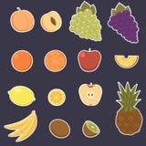 Αυτοκόλλητες ετικέττες φρούτων Στοκ εικόνες με δικαίωμα ελεύθερης χρήσης
