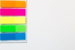 Αυτοκόλλητες χρωματισμένες λουρίδες Στοκ Φωτογραφίες