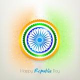 Αυτοκόλλητη ετικέττα ή ετικέτα για την ινδική ημέρα Δημοκρατίας Στοκ Εικόνες