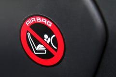Αυτοκόλλητη ετικέττα αερόσακων Στοκ Φωτογραφίες