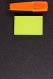 Αυτοκόλλητη ετικέττα δεικτών στο διάγραμμα κτυπήματος Στοκ φωτογραφία με δικαίωμα ελεύθερης χρήσης