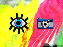 Αυτοκόλλητη ετικέττα ζωηρόχρωμη στοκ εικόνες με δικαίωμα ελεύθερης χρήσης