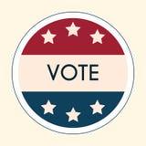 Αυτοκόλλητη ετικέττα και διακριτικό ψηφοφορίας εκλογής Αμερικανικό Flag& x27 s συμβολικό Elem Στοκ Φωτογραφίες