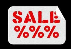 Αυτοκόλλητη ετικέττα πώλησης Στοκ φωτογραφία με δικαίωμα ελεύθερης χρήσης